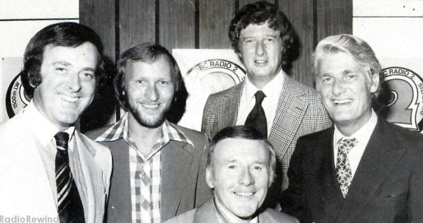 Terry Wogan, Colin Berry, Jimmy Young, John Dunn and Pete Murray celebrate 10 years of Radio 2.
