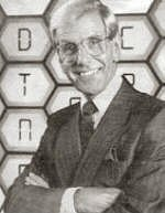 Bob Holness on the Blockbusters set