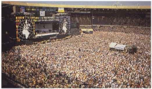 Live Aid, Wimbledon Stadium, 1985.
