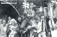 Celebrating taking over the Breakfast Show in 1973