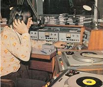 Tony Blackburn in the Radio 1 Studio