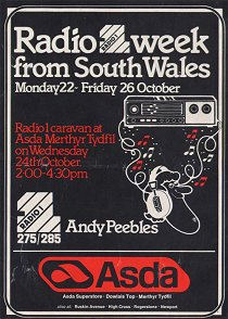 Flyer for Week in South Wales, 1979.