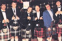 DJs get all dressed up for Scotland 1987.