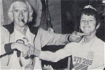 Jimmy Savile with child at VCGB party 1979